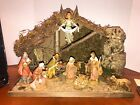 Vintage 5 Fontanini Heirloom Musical Nativity Manger Stable Depose Italy
