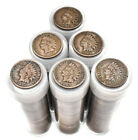 Entire Tube of Authentic Indian Head Pennies Vintage Lot Estate Coin Sale Penny