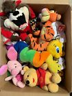 Plushy Beanies- Used And New Lot- Taz, Tweety, Pooh, Tigger, Pigglet.10 Total