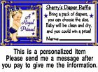 20 Royal Blonde Prince Baby Shower Diaper Raffle Tickets Game Cards Blue Gold