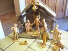 VINTAGE 12 PC Roman FONTANINI NATIVITY SET INCLUDES STABLE DEPOSE ITALY