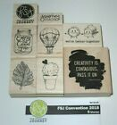Fun Stampers Journey FSJ CONVENTION 2018 8pc Wood Mount Rubber Stamp Set