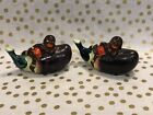 Vintage Salt and Pepper Shakers African Man Laying On Eggplant Japan Corks
