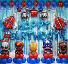 48 Pcs Avengers Birthday Party Supplies Decorations Superhero Balloons Set US