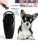 Puppy Dog Cat Pet Click Clicker whistle 2 in 1 Black Training Obedience Trainer