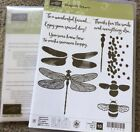 Stampin Up Rubber Stamp Set DRAGONFLY DREAMS  DIES Friendship ThanksBee