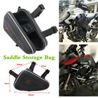 Motorcycle Engine Guard Frame Storage Bag Small Kit Triangle Tools Package Black