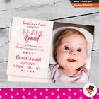 Premium Photo Baby Girl or Boy Personalised Birth Announcement Thank You Cards