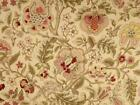 Waverly Imperial Dress Gold Beige Pink Green Floral Upholstery Drapery Fabric