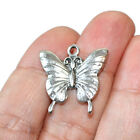 Butterfly Charms Antique Silver Tone 5 charms in one lot