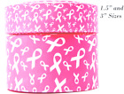 3 INCH NEW PINK BREAST CANCER RIBBONS ON CHEER BOW GROSGRAIN RIBBON 1 35