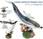 Large Dolphin  Baby Jeweled Trinket Box with Austrian Crystals