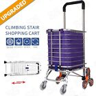 Folding Shopping Cart Grocery Trolley Laundry Stair Climbing Large Handcart Usa