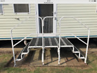 Double Caravan Steps And Platform For Static Caravan