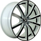 4 18x8 White Black Wheel White Diamond W5363 5x112 35