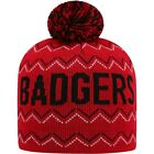 Youth Russell Red Wisconsin Badgers Rimy Knit Beanie With Pom