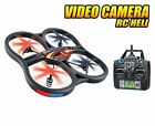 Panther Spy Drone UFO with Video Camera 45CH 24GHz RC Quadcopter