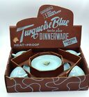 Vnt Fire King Turquoise Blue 12 pc Dinnerware Starter Set in box w/labels RARE