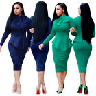 OL Womens Ruffled Bandages Solid Color Dress Professional Wear Clothing