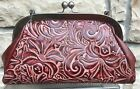 Patricia Nash NWT MIA Shoulder Bag Italian Leather Iron Red P262244 MSRP 169