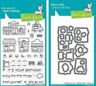 Lawn Fawn Village Shops Bundle of Clear Stamps  Lawn Cuts Die Sets NEW