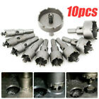 10X Carbide Tip TCT Hole Saw Cutter Drill Bit Set For Steel Metal Alloy 16 53mm