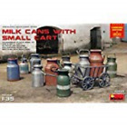 PLASTIC MODEL KIT MILK CANS WITH SMALL CART MINIART 35580 SCALE 1/35