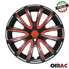 14 Inch Hubcaps Wheel Rim Cover For BMW Glossy Black with Red Insert 4pcs Set