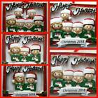 Family Happy Holidays Personalized Christmas Ornament Family of 2 3 4 5 6