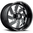 4 Fuel D582 Turbo 8 20x12 8x65 43mm Black Milled Wheels Rims 20 Inch