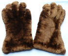 ORIG WW1 BRITISH ROYAL FLYING CORPS ARMY OFFICERS FUR LINED GLOVES