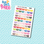 A108 Laundry Basket Planner Stickers for Erin CondrenHappy Planner