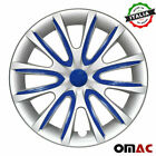 15 Inch Hubcaps Wheel Rim Cover for Audi Gray with Dark Blue Insert 4pcs Set