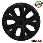 Hubcaps 14 Inch Wheel Rim Cover For BMW Glossy Black with Black Insert 4pcs Set