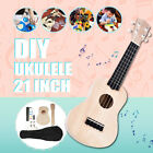 21 Self Build Ukulele DIY Soprano Hawaii Ukulele Kit Musical Instrument Gift