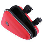 Triangle Saddle Bag Red Small Storage Pouch For Motorcycle Engine Guard Frame