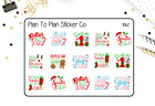 1862 Christmas Sayings Planner Stickers