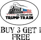 Donald Trump Trump Train Oval Exterior Bumper Sticker 6