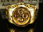 Invicta Men's 48mm PRO DIVER Scuba Chronograph Gold Dial 18K Gold Plated Watch