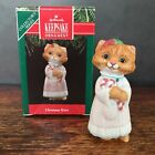 Hallmark Keepsake Ornament Christmas Kitty 1991 3rd in Collector Series