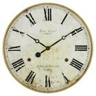 Large Round Wall Clock 30 inches Roman Numerals Aged Distressed Look