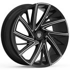4 TIS 546BM 22x9 5x45 +38mm Black Milled Wheels Rims 22 Inch