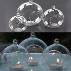 6 36X Clear Glass Ball Fillable Bauble Hanging Table LED Candle Tea Light Holder