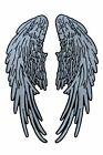 Angel Wings Reflective Patch 14 x 55 Sew On Iron On Embroidered