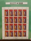Scott  3308 Ayn Rand Literary Arts Series Sheet of 20 33 Cent Stamps
