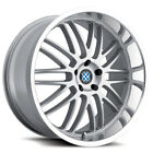 4 Beyern Mesh 15x7 4x100 +27mm Silver Wheels Rims