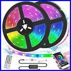 Led Strip Lights Sync To Music 328Ft 5050 RGB Light Color Changing W Multicolor