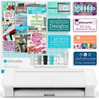 Silhouette White Cameo 4 w Updated Autoblade 3x Speed Roll Feeder and More