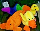 Ty Beanie Baby Inch The Worm, Goldie the Fish, Quackers the Duck, P.V.C Pellets