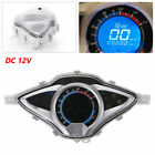 Motorcycle Bike  LCD Digital Odometer  Speedometer Tachometer  Gauge Meter